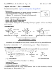 215 F07 notes-carbohydrates-12-2-07
