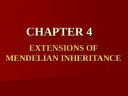 Chapter 4 - BB - Genetics