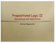 Lecture on Propositional Logic