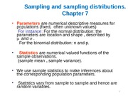Chapter 7 Sampling and Sampling Distribution
