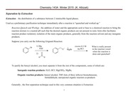 Chem 143A Lecture Notes  Winter 2015 Separation by Extraction