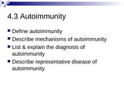Topic 4.3 Autoimmunity