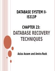 lecture7 _Recovery_ Database System II- IS313P (1).ppt