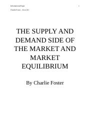THE SUPPLY AND DEMAND SIDE OF THE MARKET AND MARKET EQUILIBRIUM.docx