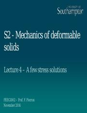S2 (4) A few stress solutions