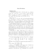 MATH 60210 Fall 2014 Exam 3D Solutions