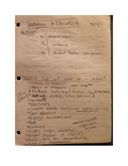 Religion and Education Lecture Notes EDUC 411