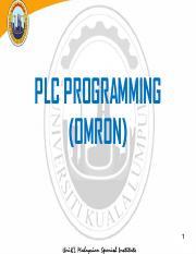 Chapter 2 PLC pdf - PLC PROGRAMMING(OMRON 1 Course Objective