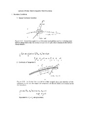 Lecture 2 Notes Electromagnetic Field Boundary