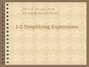simplifying expressionsOpt