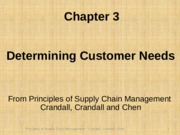 Chapter 03 Determining Customer Needs PSCM2E