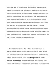 introduction to cross cultural psychology paper introduction to  most popular documents for psy 450