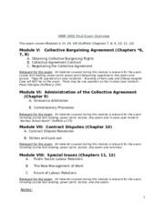 HRIR 3450 Final Exam Overview Student