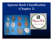 Chapter 2 Igneous Rock Classification