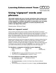 Using signpost words and phrases.pdf