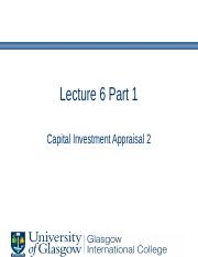 Lecture 6 Part 1 - Investment Appraisal 2.pptx