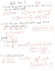 Math 1680 Business Calculus Test 4 With Answer Key Fall 2014