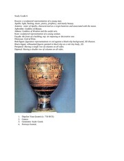 GREEK ART HISTORY STUDY GUIDE