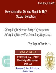 Lecture 12- How Attractive Do You Need to Be- Sexual Selection