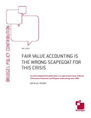 Fair Value Accounting is the Wrong Scapegoat for the Crisis.pdf
