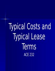 PPT 2 Typical Costs and Lease Terms
