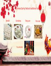 Chinese Spring Festival traditional food