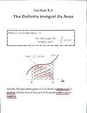 Definite integral as an area lecture Slides