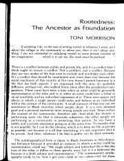 Black Women Writers_Rootedness:  The Ancestors As Foundation_Toni Morrison
