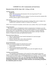 COMM200 Section Syllabus 2014 Fall