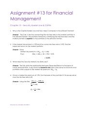 Assignments FinMgmt - Chp 13 Solutions