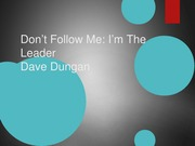 Don't Follow Me I'm the Leader Book Review Presentation