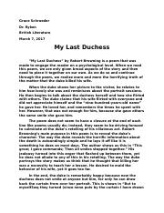 My Last Duchess  -Robert Browning.docx