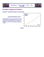 Examples of Applications... Differential Equations