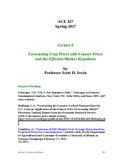 Lecture 8 - Forecasting Crop Prices with Futures Prices, INSTRUCTOR, Spring 2017.pdf