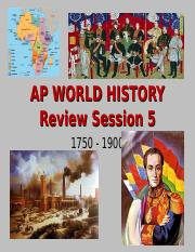 WHAP AP Review 1750-1900 Session 5 2012 (1)