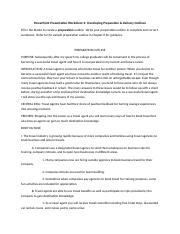 CA 109 - 10-Week - PowerPoint Presentation Worksheet 2