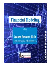 Slides Financial Modeling EADA 1