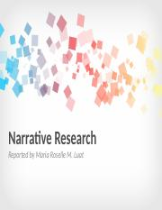 NARRATIVE RESEARCH DESIGNS