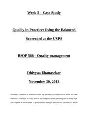 BSOP 583 Week 5 Case Study Managing Hard Rock's Rockfest