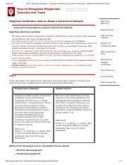 Indiana university plagiarism test answers