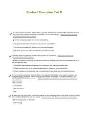 Con 124 part b contract execution exam part b for B b contract
