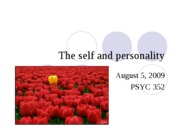 The self and personality POST