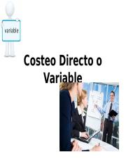 05 Costeo Directo o Variable