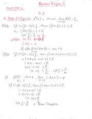 Exam Material  First and Second Derivative