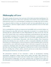 1 - Intro- Moseley Philosophy of Love