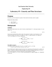 ENGR 315 Lab #3 - Linearity and Time Invariance
