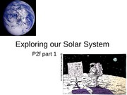 Exploring our Solar System part 1