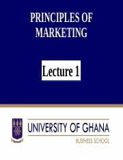 Principles of Marketing Lecture 1