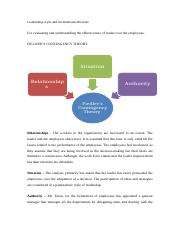 Leadership style and motivational theories.docx