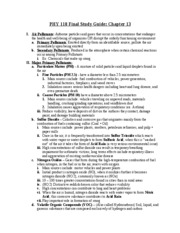 PHY 118 final study guide -chapter 13